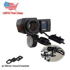 USB Charger & LED Voltmeter Fit Yamaha Road Star XV 1600 1700 Silverado Midnight