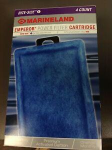 Marineland Emperor Power Filter Cartridge, fits PRO 450, Size E, NIB 4 Count