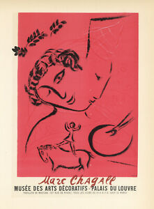 Marc Chagall lithograph poster (printed by Mourlot) 4345356