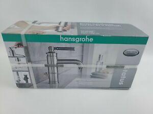 Hansgrohe Status Lavatory Bathroom Faucet Brushed Nickel Single Handle Brand New