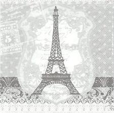 2 Serviettes en papier Paris Tour Eiffel - Paper Napkins Eiffel Tower