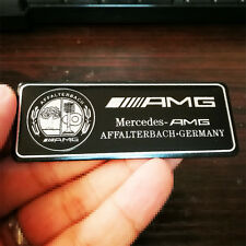 High Quality Car Interior Apple Tree Black Silver AMG Badge Sticker For Mercedes