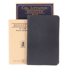 Leather Pocket Journal Refillable Ruled Notebook Black USA Made No. 27
