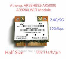 Atheros AR5BHB92 AR9280 2.4G/5GHz 802.11a/b/g/n 300Mbp Wifi Mini Pci-e Half tarjeta