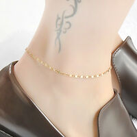 Simple Chain Anklet Ankle Bracelet Barefoot Sandal Women Beach Foot Jewelry gift