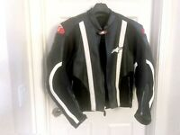 Alpinestars SMX Airflow Leather Jacket - Black - Size 46/56