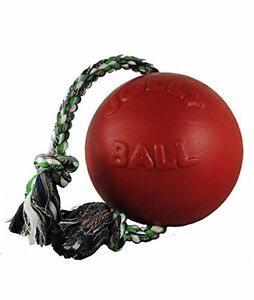 Jolly Pets Romp-n-Roll Ball 8 inches, Red