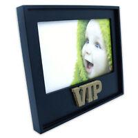 VIP 3D Bilderrahmen Fotorahmen Einzelrahmen Fotohalter Holzrahmen schwarz gold