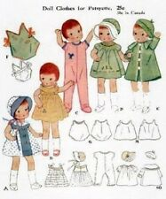 "VINTAGE 9"" PATSYETTE DOLL CLOTHES PATTERN 10"