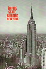 Empire State Building, Aerial View of Manhattan, New York City, NY --- Postcard