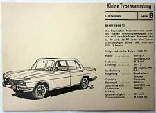 DDR Kleine Typensammlung Kraftwagen - BMW 1800 TI