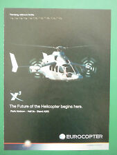 6/2011 PUB EUROCOPTER X3 HELICOPTER HUBSCHRAUBER HELICOPTERE ORIGINAL AD