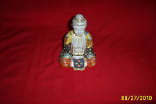 """Chinese Buddha Asian Made in Tapan 8"""" tall Full of hand painted colors and gold"""