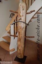 Standgarderobe aus Stammholz mit  Metallstandfuß,Unikat,einzigartig, Handarbeit