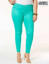 NWT $59.00 Sz 20 Plus Celebrity Pink Skinny Stretch Colored Jeans Green New