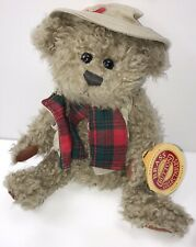 """Pickford Bears Tanner the Bear Plush of Health Brass Button Collectibles 11"""" Tag"""