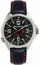 Vostok Komandirskie 470612 K34 Russian Military Mechanical Watch Red Star Black