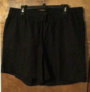 Cato Pull-on Draw String Short Ideal Black 18/20W NWT