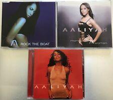 Aaliyah Aaliyah - More Than A Woman - Rock The Boat Rare 3Cd Lot Album & Singles