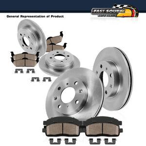 Front+Rear Rotors & Ceramic Pads For 2007 2008 2009 2010 2011 - 2013 Mini Cooper