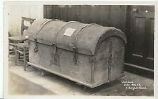 Suffolk Postcard - Old Chest - Date 1400 A.D. - East Bergholt Church   A4693