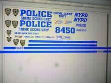 Big City New York Police Crime Scene Van Decals 1:64