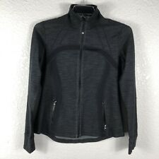 Lululemon Women's Zip Up  Black Slub Denium Jacket SZ12  C508