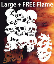 Airbrush Skull Background 2 + Flame Stencil Skulls Template Spray Vision