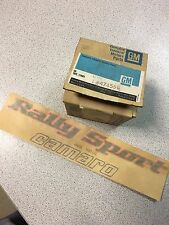 "NOS GM # 474556 Decal fender ""Rally Sport camaro "" Chevrolet Camaro 78-79"
