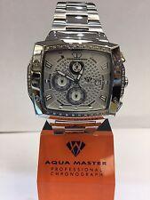 Men Aqua Master Jojo Jojino Joe Rodeo ST.STE Metal Band 51mm Diamond Watch W#354