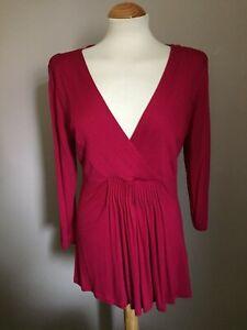 Jasper Conran Red Tunic Top - UK Size 12 / Eur 40 - Used