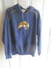 Buffalo Sabres Hoodie Sweatshirt Men's Large Hockey NHL Navy Blue Stitched Logo