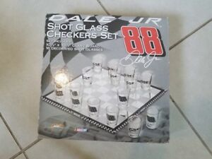 Shot Glass Checkers Dale Jr 2008 Set 88 NEW!