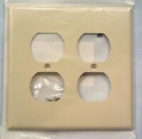 A Quantity of 2 Cover Plates Ivory 2 Gang for Standard Duplex Receptacle