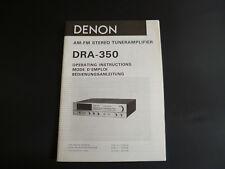 Original Bedienungsanleitung Denon DRA-350