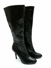 size 7 White House/Black Market Metro Black Heel Knee High Boots Womens Shoes