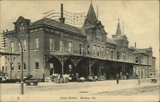 Moberly MO RR Train Depot Union Station c1910 Postcard