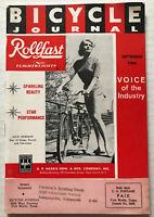 1966 Bicycle Journal Magazine SCHWINN Bike Disneyland AD Julie Newmar BATMAN TV