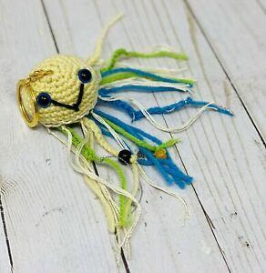 New Handmade Crochet Shazi Amigurumi Jelly Fish Medium Charm & Keychain