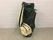 "NICE Vintage Hot-Z Green & White ISLEWORTH GOLF STAFF BAG 9.5"" Cart DISPLAY Used"