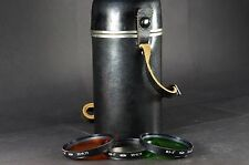 Leather storage case for TAIR-11A USSR lens+3 filters