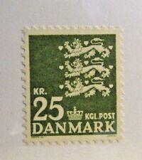 Denmark Sc # 400 * Mnh 3 lions + crown postage stamp, fine +