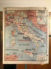 Carte Affiche scolaire Vidal Lablache n°30 Italie