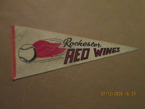 IL Rochester Red Wings Vintage Circa 1970's Team Logo Baseball Pennant