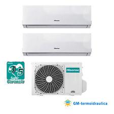 CLIMATIZZATORE DUAL SPLIT INVERTER HISENSE NEW COMFORT 9000+9000 9+9 btu R32 A++