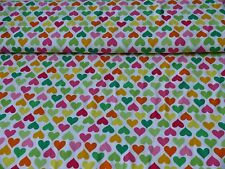 Jersey Hearts Herzen von Robert Kaufman (Stoff Meterware ab 0,25m)