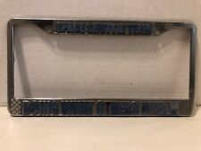 Space Shuttle Vintage License Plate Frame Doing What Others Only Dream