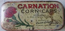 CARNATION CORN CAPS MEDICAL TIN BOX product of cuxson Gerrard oldbury Birmingham