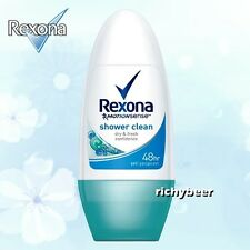 1x50 ML. Rexona Roll On Shower Clean Motionsense Women Deodorant 48 Hr.