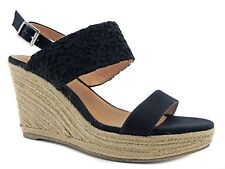 REPORT Women's Kynsley Wedge Sandals Black Size 9 (B,M)
